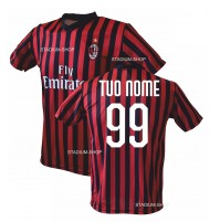 OFFICIAL AC MILAN HOME KIT 2017-2018 CUSTOMIZABLE