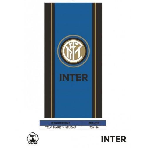 Telo Mare Ufficiale FC INTER in spugna di cotone Bambino