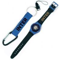 Orologio da polso Inter e portachiavi con moschettone Inter ufficiali